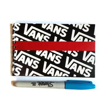 VANS shoe box Note book Free UK Postage recycled gift idea