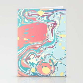 Lolipop Marble Stationery Cards by Freya.art