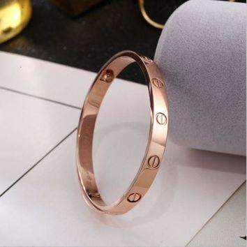 One-nice? Perfect Cartier Women Fashion LOVE Plated Bracelet Jewelry