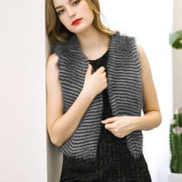 Gray Faux Fur Vest B0013798