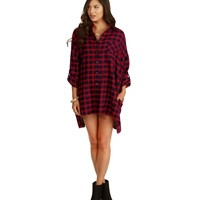 Red House Party Plaid Tunic