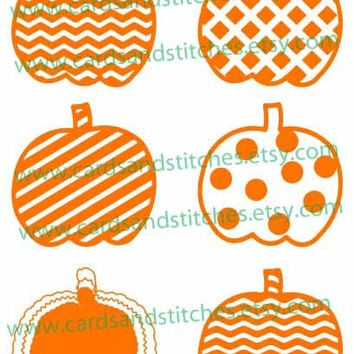 Pumpkins with Patterns - Pumpkins - Digital Cutting File - Graphic Design - Instant Download - SVG, DXF, JPG
