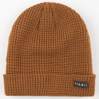 Yea.Nice The Folded Beanie Coffee One Size For Men 24974540401
