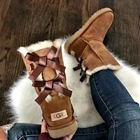 Ugg Ladies Classic Tube Double Bow Snow Boots