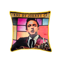 HYMNS by Johnny Cash Pillow In Multi | Thirteen Vintage