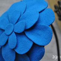 blue flower vintage headwear jewelry for her him beautiful gift 35