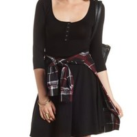 Henley Skater Dress by Charlotte Russe