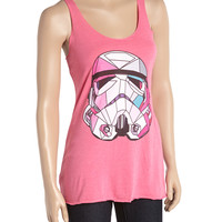 Heather Pink Star Wars Stained Glass Trooper Tank - Juniors | zulily