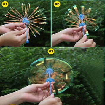 1Pcs Colorful Outdoor Activety Wands Toys Amused for Children Kid Baby Shook Stick Blowing Bubble Play Funny Popular Soap Bubble