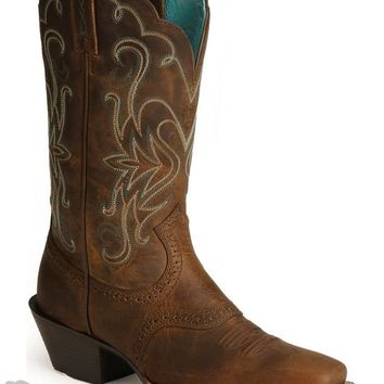 Women's Saddle Vamp Legend Riding Cowgirl Boots Square Toe by Ariat - Boot - Westernwear.com