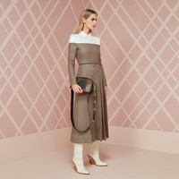 Grisaille wool dress - DRESS | Fendi | Fendi Online Store