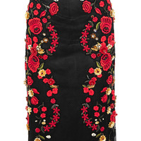 Dolce & Gabbana - Embroidered mesh midi skirt