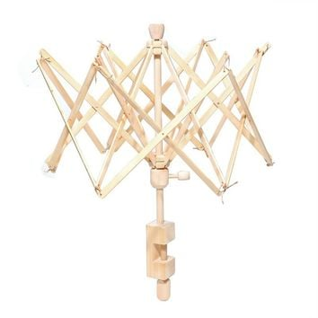Wooden Umbrella Swift Yarn Winder Hand Operated Ball Winder Holder Knitting Tool Swift Winding Lines Laces Yarns Fiber or Other