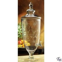 Godinger Savannah Glass Dispenser with Spout