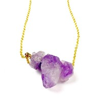 Amethyst Triad Necklace