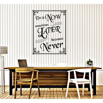 Large Wall Vinyl Decal Vintage Poster Motivation Quote Home Decor n1018