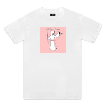 424 x Sean from Texas- SS Fashion Sucks Pink Box Tee (White)