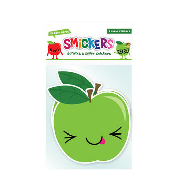 Jumbo Scratch and Sniff Sour Apple Sticker