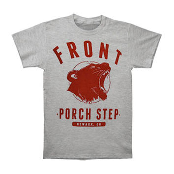 Front Porch Step Men's  College T-shirt Grey Rockabilia