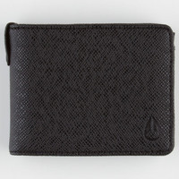 Nixon Cape Textured Wallet Black One Size For Men 22755510001
