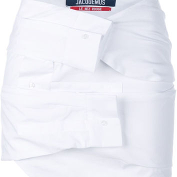 Shirt Sleeves Skirt in White