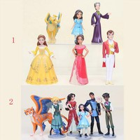 6pcs/lot Princess Toys Elena of Avalor PVC Action Figures Elena Dolls PVC Action Figures Prince Figure model toys Kids Toys