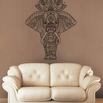 ik1644 Wall Decal Sticker Indian elephant god Ganesha Ornament bedroom