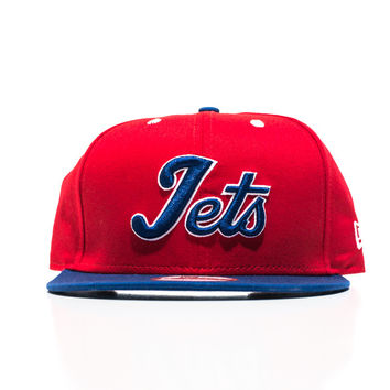 Jets New Era Snapback - Red/Blue