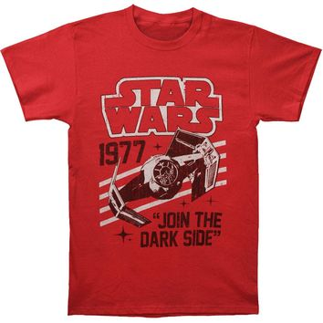 Star Wars Men's  Vaders Domain Slim Fit T-shirt Heather Rockabilia