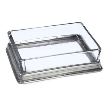 Match Pewter Butter/Soap Dish