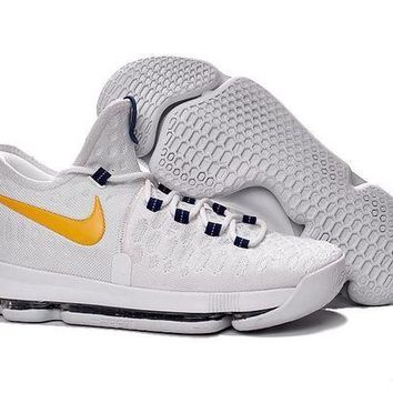 ONETOW nike kd 9 shoes white yellow  number 1