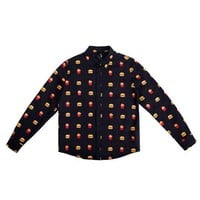Unisex Hamburger Botton-Down Shirt