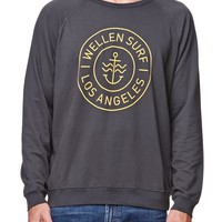 Wellen Anchor Cabana Crew Fleece - Mens Hoodie - Black