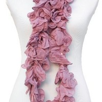 Fennco Ruffle Cotton Long Scarf - 8 Colors $18.99