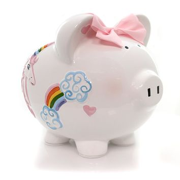 Bank Unicorns & Rainbows Pig Bank