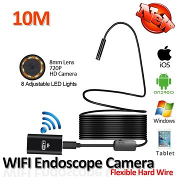 2017New 8LED 10M Hard Flexible Android Endoscope Camera