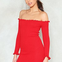 Hit It Off Ribbed Dress