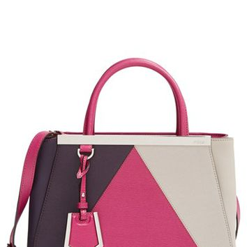 Fendi 'Petit 2Jours Colorblock' Leather Shopper