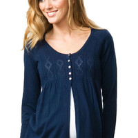 Crave Empire Line Cardigan Maternity Sweater