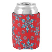 Snowflakes Pattern Can Cooler