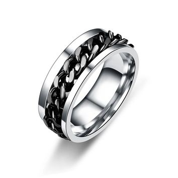 Men's Titanium Steel Rings can be turned Valentine's Gifts for Men's Jewelry  8RD178