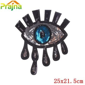 Prajna Large Resident Evil Eye Patch Stranger Things Iron On Sequin Patches Embroidery Patches For Clothes Badge Hippie Applique