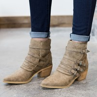 Fayth Strappy Western Bootie