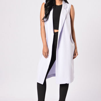 Standing Tall Coat - Lilac