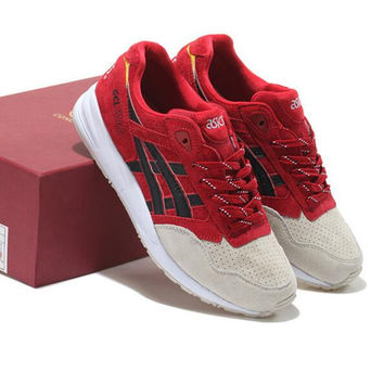 """ASICS GEL LYTE ""TRENDING Sneaker running shoes  Sports Shoes Wine red-gray toe"