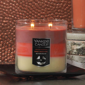 Halloween Trio Tumbler Candle - Spiced Pumpkin / Sweet Seduction / Buttercream® Medium 2-Wick Tumbler Candles - Yankee Candle