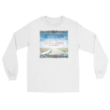 Vinyl Icons Bon Jovi Lost Highway VIBJ-022BK Unisex Boyfriend Long Sleeve Tee