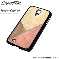 Chevron Wood Triangle Case For Samsung Galaxy S4 Case