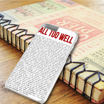All To Well Lyric Taylor Swift iPhone 6 Plus | iPhone 6S Plus Case