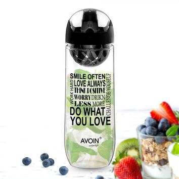 Fruit Infusion Leakproof Portable Premium Infuser BPA Free Plastic Drinking Outdoor Water Bottles